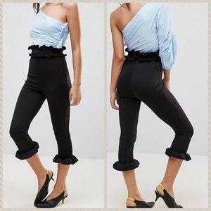 NWT Lasula black high waist cropped pants